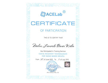 certificado datarecovery